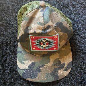 Obey Camo Snap Back Trucker Hat